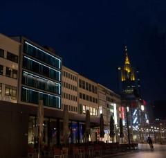 Zeil Frankfurt Innenstadt bei Nacht